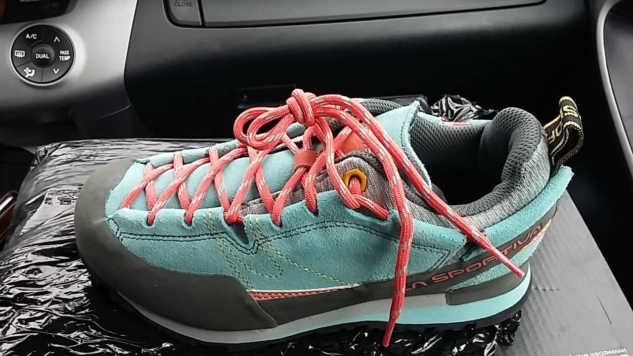 9e26f0beb6a Recenzovaný produkt nájdeš na tejto adrese   https   www.adamsport.eu damska-nizka-turisticka-obuv la-sportiva-boulder-x -womens-ice-blue