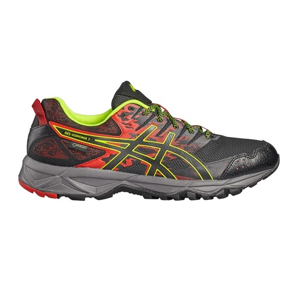 Asics Gel - Sonoma 3 G-TX - vermilion/black/safety yellow