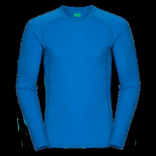 Bjorn Merino Tshirt LS - Blue