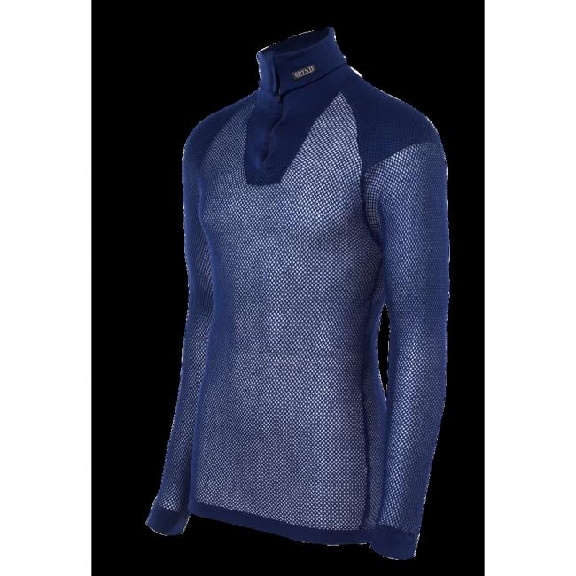 Termoprádlo Brynje Super Thermo Zip Polo Shirt w/inlay - navy - M