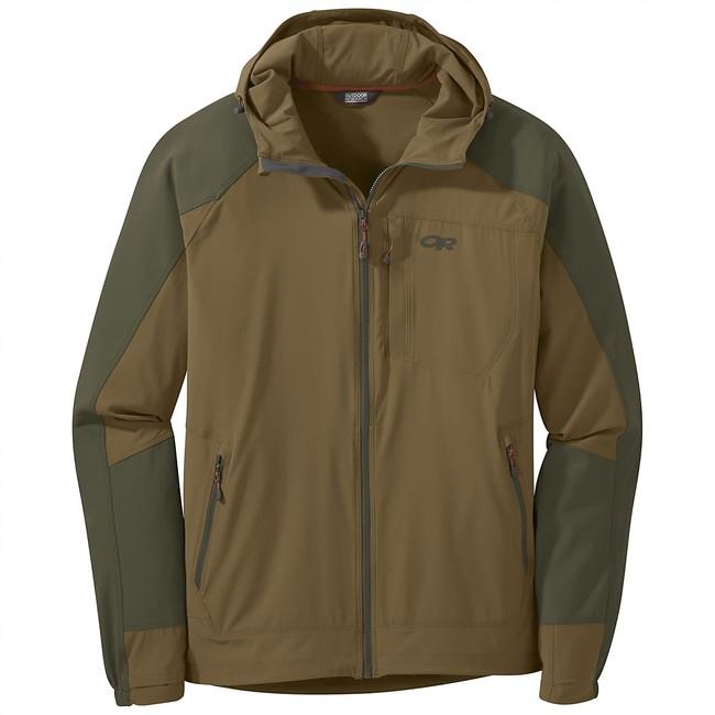 Bunda Outdoor Research Ferrosi Hooded Softshell Jacket - coyote/fatigue - S
