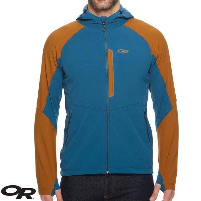 Bunda Outdoor Research Ferrosi Hooded Softshell Jacket - peacock/saddle - L