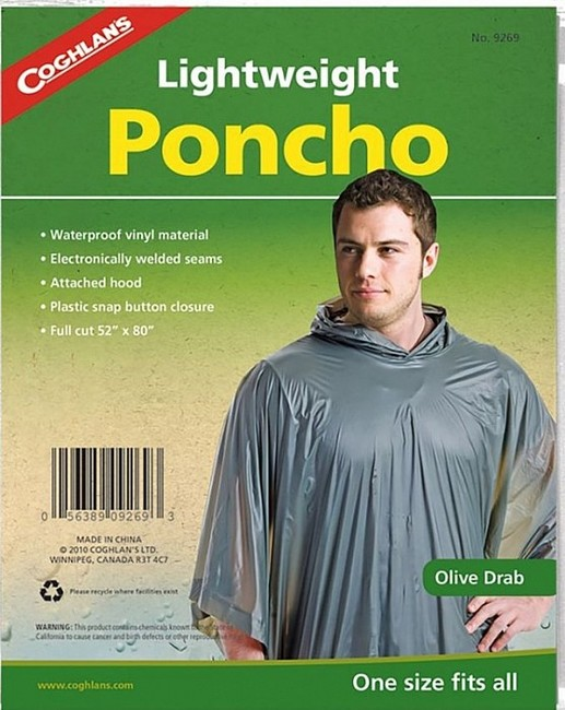 Coghlans Lightweight Poncho - olive