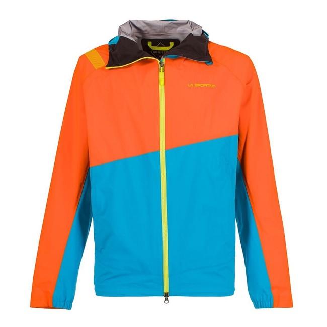 Gore Tex bunda La Sportiva Zagros GTX Jacket Men - pumpkin tropic blue 3d2eafaca38