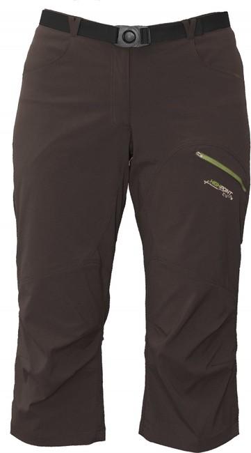 Krátke nohavice High Point Dash Lady 3/4 Pants - brown - S