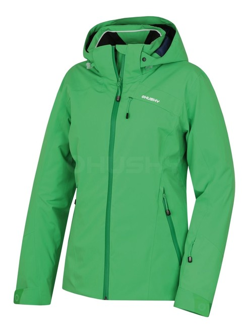 Husky Dámska lyžiarska bunda Menau L sv. zelená - S