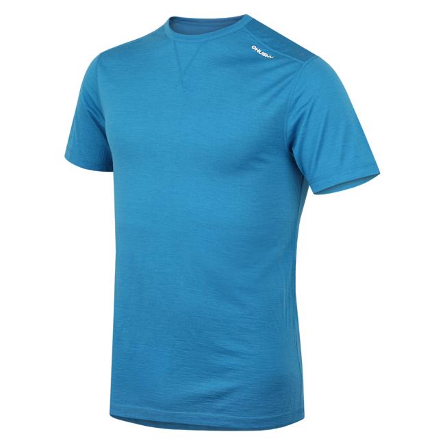 Husky Merino termoprádlo Tričko krátke pánske modrá