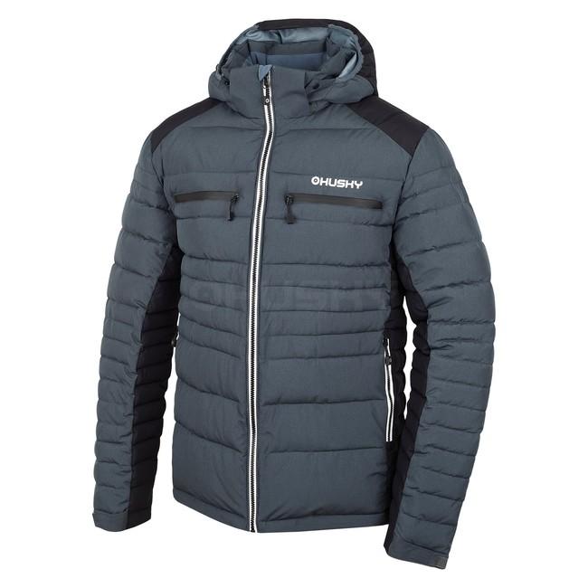 Husky Pánska plnená zimná bunda Norel M antracit/čierna
