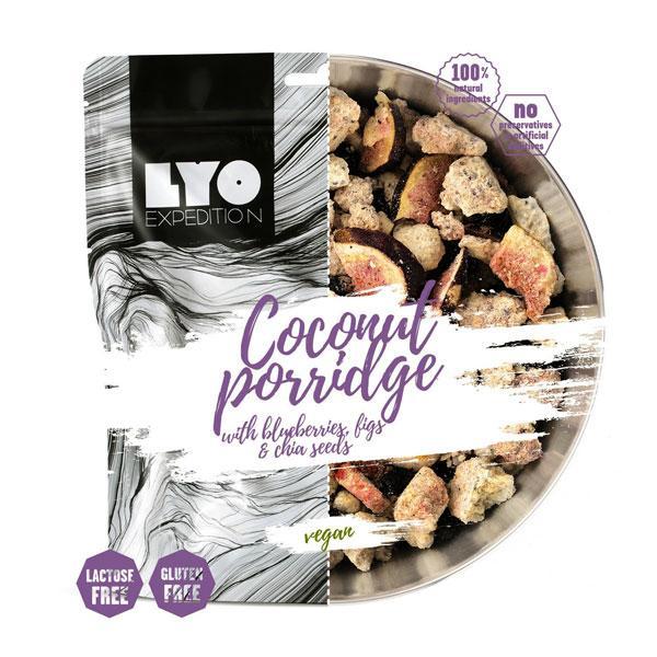 Lyofood Kokosová kaša s čučoriedkami, figami a chia semienkami - 500 g
