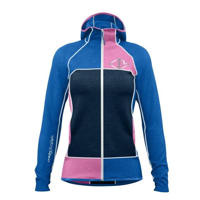 Mikina Crazy Idea Ionic Light Jacket Woman - blossom bluette - M