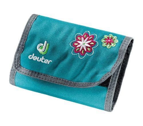 Peňaženka Deuter Wallet - Petrol Flowers