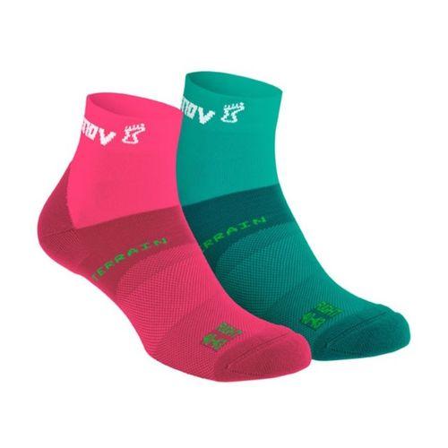 Ponožky Inov-8 All Terrain Sock Mid - teal/coral