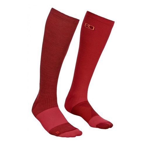 Ponožky Ortovox W´s Tour Compression Socks - dark blood