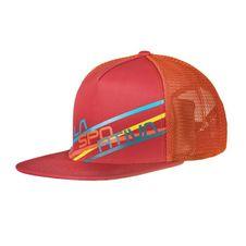 Čiapka La Sportiva Trucker Hat Stripe 2.0 - cardinal/red flame
