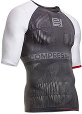 Tričko Compressport ON-OFF shirt - grey/white