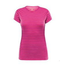 Devold Breeze Woman T-shirt - fuchsia stripes
