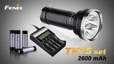 Fenix TK75 4xCree XM-L2 + nabíjacia sada 2600mAh
