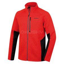 Husky Pánsky fleecový sveter Alan M červená