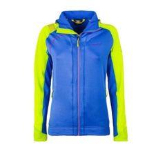 Mikina La Sportiva Kix Hoody Women - cobalt blue/apple green
