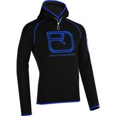 Ortovox Merino Fleece Logo Hoody - Black