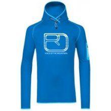Ortovox Merino Fleece Logo Hoody - Blue