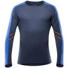 Pánske tričko Devold Sport dl. rukáv - Black/Blue
