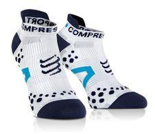 Ponožky Compressport Run LO V2.1 white/blue