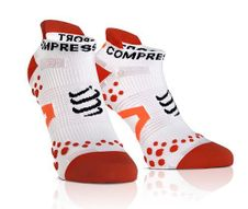 Ponožky Compressport Run LO V2.1 white/red