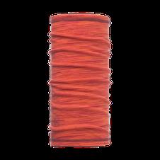 Šatka Buff Lightweight 3/4 Merino wool - coral pink multi