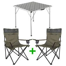 Set Kempingový stôl Coleman Square Table + 2x Coleman Standard Quad Chair