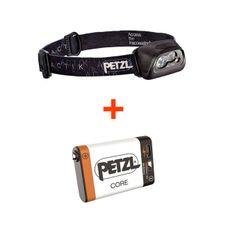 Set Petzl Actik - čierna + Petzl Core