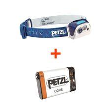 Set Petzl Actik - modrá + Petzl Core