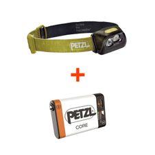 Set Petzl Actik - zelená + Petzl Core