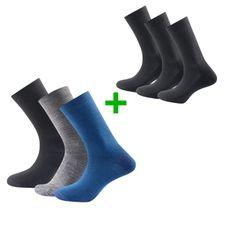 Set Ponožky Devold Daily Light Sock 3PK + Ponožky Devold Daily Medium Sock 3PK