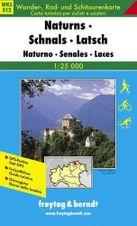 Turistická mapa 1:25T - Naturns, Schnals, Latsch