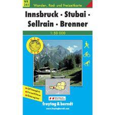 Turistická mapa 1:50T - Innsbruck, Stubai, Sellrain, Brenner