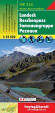 Turistická mapa 1:50T-Landeck Reschenpass Samnaungruppe Paznaun