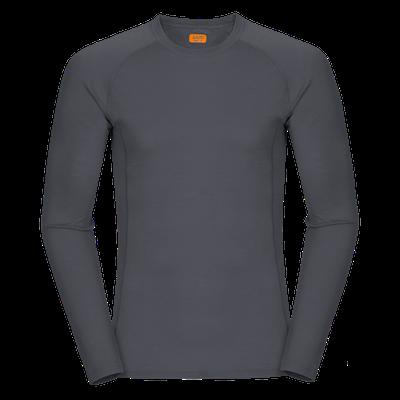 Zajo Bjorn Merino Tshirt LS - Grey