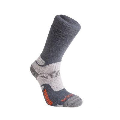 Ponožky Bridgedale WoolFusion Trekker CuPED - gunmetal