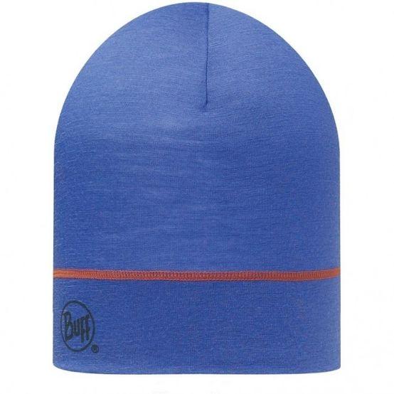 Buff 3/4 Merino Wool 1 Layer Hat - Solid Blue Ink