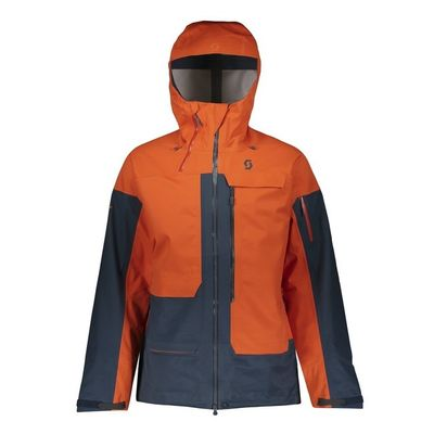 Bunda Scott Vertic 3L Jacket - tangerine orange/night blue