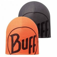 Buff Microfiber Reversible Hat - Rlogo Graphite