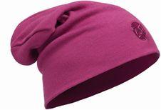 Čiapka Buff Wool Hat Heavyweight Regular Multi Striper - Solid Raspberry-Raspberry