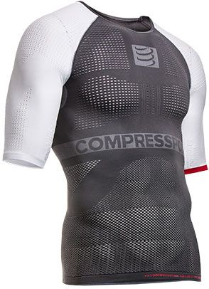 Tričko Compressport ON-OFF shirt - grey/white