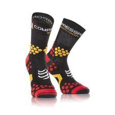Ponožky Compressport Trail Socks V 2.1 - black/red