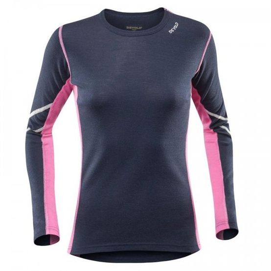 Dámske tričko Devold Sport dl. rukáv - Black/Pink