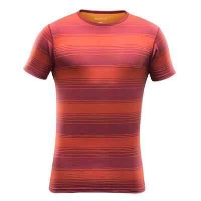Termoprádlo Devold Breeze Man T- Shirt - syrah stripe