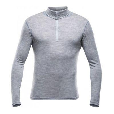 Devold Breeze Man Zip Neck - grey/melange