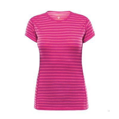 Devold Breeze Woman T-shirt - fuchsia stripes
