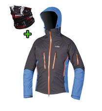 Softshellová Bunda Directalpine Trango 3.0 - Black/Blue/Orange